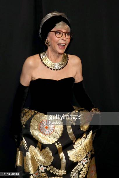 In this handout provided by AMPAS Rita Moreno attends the 90th Annual Academy Awards at the Dolby Theatre on March 4 2018 in Hollywood California