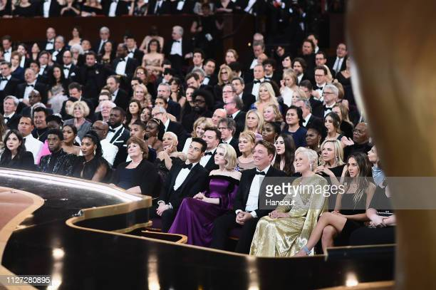 In this handout provided by AMPAS The crowd looks on during the 91st Annual Academy Awards at the Dolby Theatre on February 24 2019 in Hollywood...