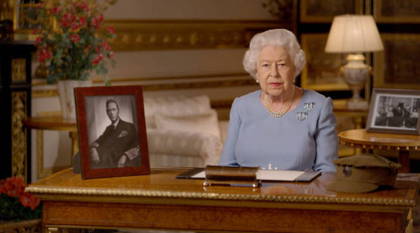 GBR: Queen Elizabeth II Addresses The Nation On The 75th Anniversary Of VE Day