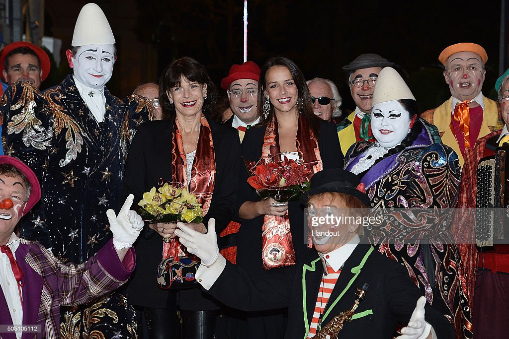 In this handout provided by Centre de Presse, Princess Stephanie of Monaco and daughter Pauline Ducruet attend the 40th International Circus Festival on January 14, 2016 in Monaco, Monaco.