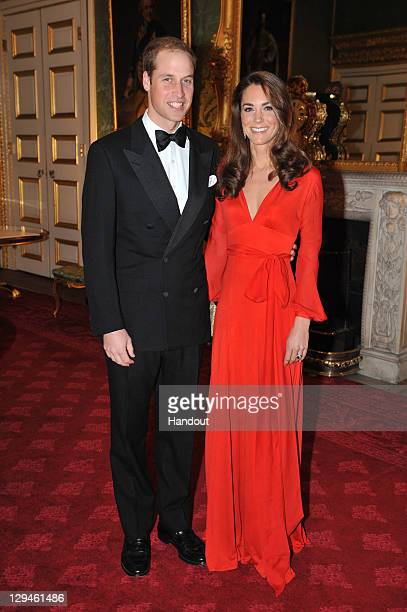 In this handout provided by Clarence House, Prince William, Duke of Cambridge and Catherine, Duchess of Cambridge attend a fundraising Gala organised...