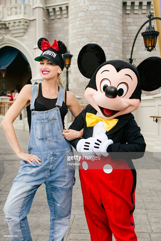 Pop Star Gwen Stefani Vacations At Walt Disney World