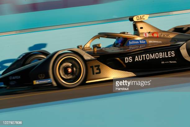 In this handout provided by FIA Formula E Antonio Félix da Costa DS Techeetah DS ETense FE20 races on August 5 2020 in Berlin Germany