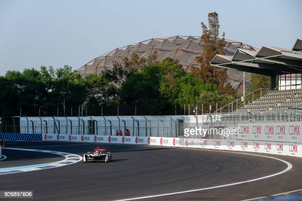 In this handout provided by FIA Formula E Daniel Abt Audi Sport ABT Schaeffler Audi etron FE04 during the Mexico City ePrix Round 5 of the 2017/18...
