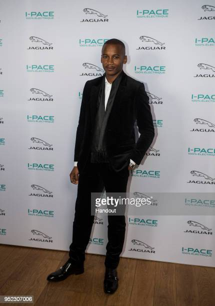 In this handout provided by FIA Formula E Jaguar iPace Launch with ballet dancer Eric Underwood during the Paris EPrix in the Paris ePrix Round 8 of...