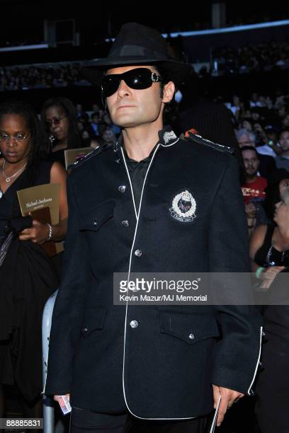 In this handout provided by Harrison Funk and Kevin Mazur actor Corey Feldman attends Michael Jackson's Public Memorial Service held at Staples...