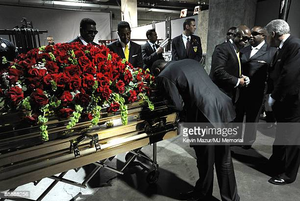 In this handout provided by Harrison Funk and Kevin Mazur, Marlon Jackson attends Michael Jackson's Public Memorial Service held at Staples Center on...
