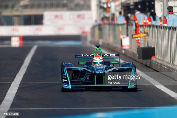 In this handout provided by Jaguar Racing Nelson Piquet Jr Panasonic Jaguar Racing Jaguar IType II in action during the Mexico City ePrix Round 5 of...