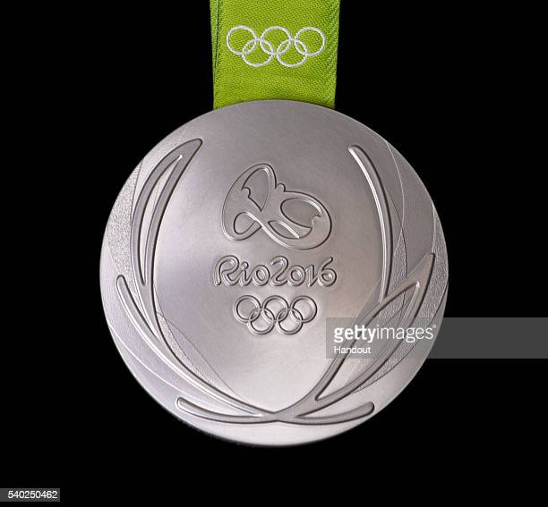 In this handout provided by Jogos Rio 2016 the front of the silver medal for the 2016 Summer Olympics is shown June 8 2016 in Rio de Janeiro Brazil