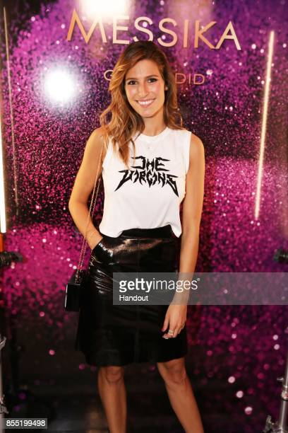 In this handout provided by Messika Laury Thilleman attends the Messika cocktail as part of the Paris Fashion Week Womenswear Spring/Summer 2018 on...