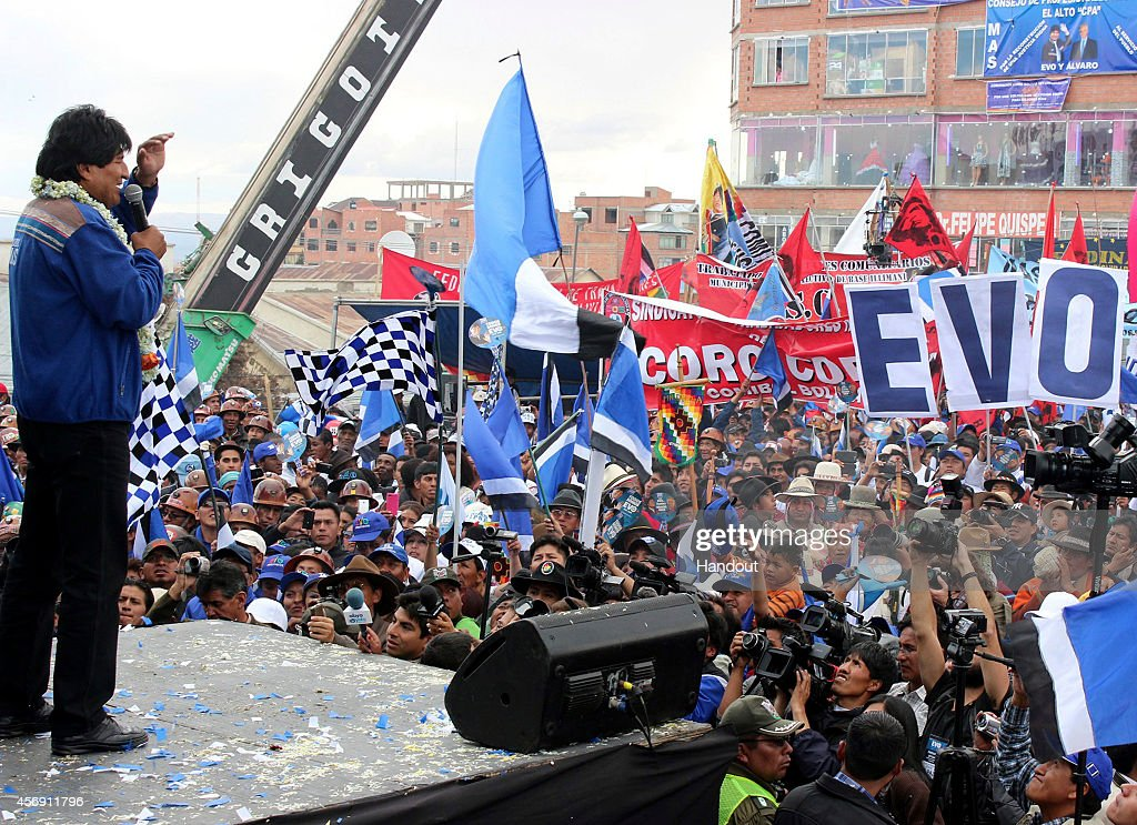 Evo Morales Holds Closing Rally For The Bolivian Presidential Elections
