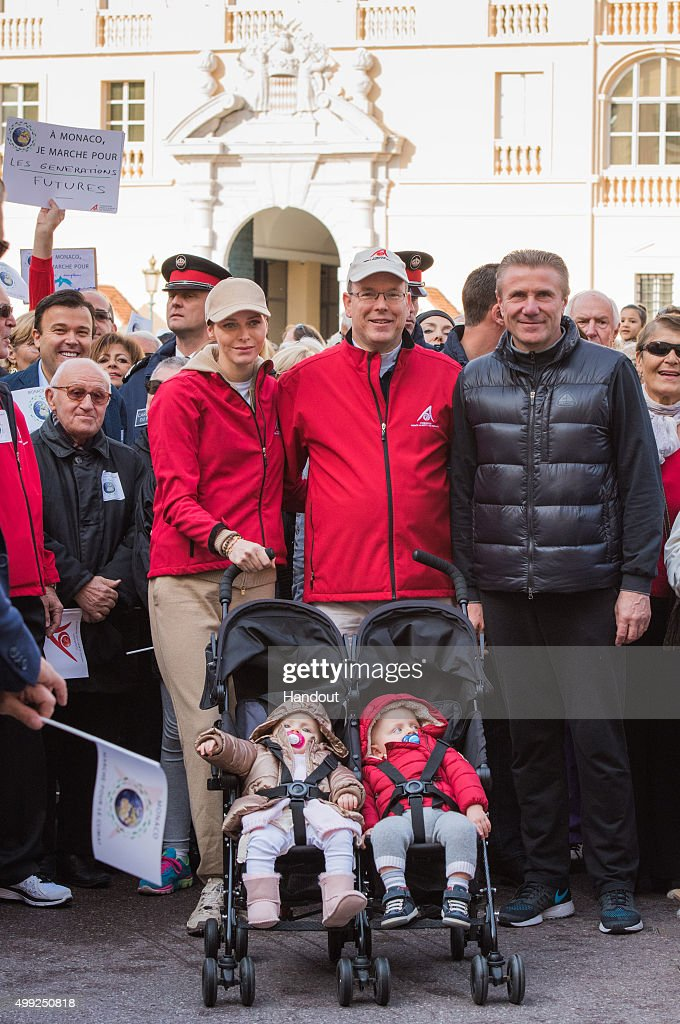 Prince Albert And Princess Charlene Of Monaco Attend The 'March For Climate' : News Photo