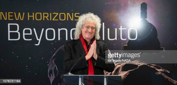 In this handout provided by NASA Brian May lead guitarist of the rock band Queen and astrophysicist discusses the upcoming New Horizon's flyby of the...