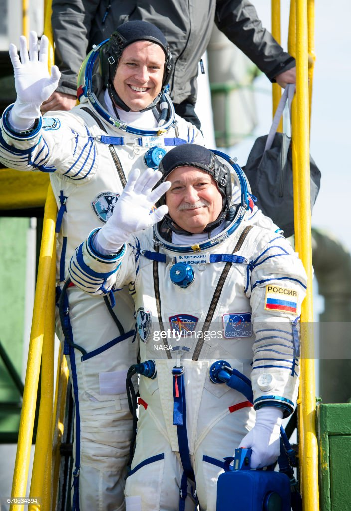 Expedition 51 Launch In Kazakhstan