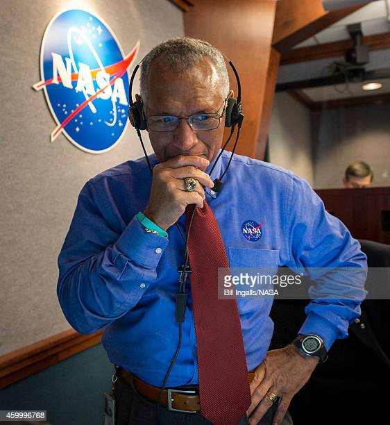 In this handout provided by NASA NASA Administrator Charles Bolden pauses for a moment in Building AE at Cape Canaveral Air Force Station after...