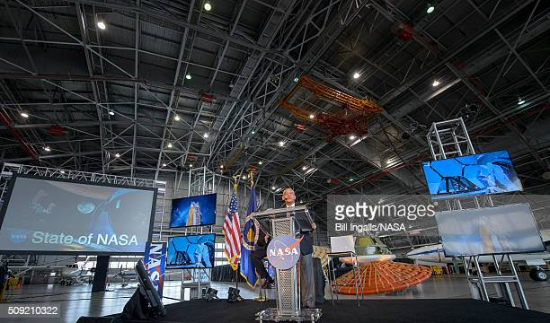 In this handout provided by NASA NASA Administrator Charles Bolden talks about the agency's scientific and technological achievements and cuttingedge...