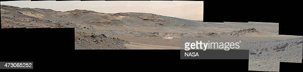 In this handout provided by NASA/JPLCaltech/MSSS This April 16 panorama from the Mast Camera on NASA's Curiosity Mars rover shows a detailed view...