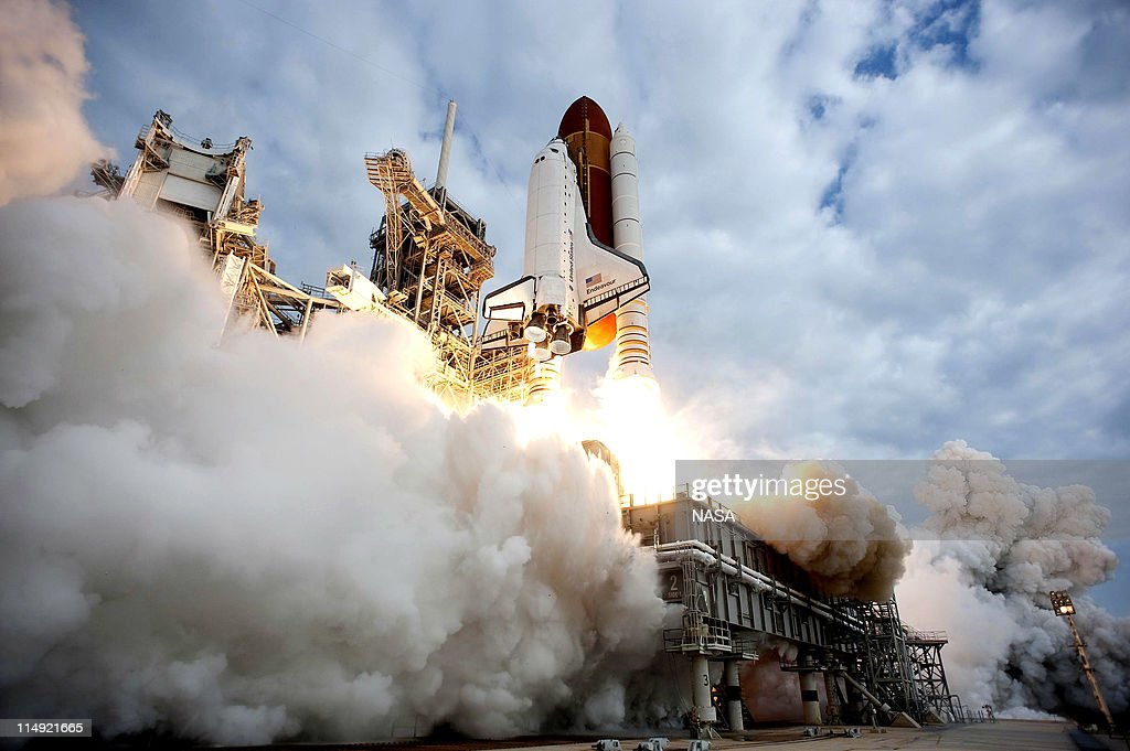 In this handout provided by National Aeronautics and Space Administration (NASA), NASA space shuttle Endeavour lifts off from Launch Pad 39A at NASA's Kennedy Space Center May 16, 2011 in Cape Canaveral, Florida . After 20 years, 25 missions and more than 115 million miles in space, NASA space shuttle Endeavour is on its final flight to the International Space Station before being retired and donated to the California Science Center in Los Angeles. Capt. Mark E. Kelly, U.S. Rep. Gabrielle Giffords' (D-AZ) husband, will lead mission STS-134 as it delivers the Express Logistics Carrier-3 (ELC-3) and the Alpha Magnetic Spectrometer (AMS-2) to the International Space Station.