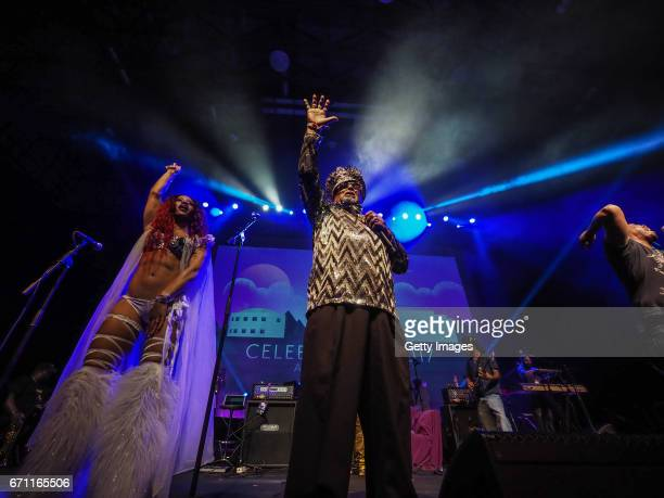 In this handout provided by Paisley Park Studios George Clinton Parliament Funkadelic performs at Celebration 2017 on April 20 2017 in Chanhassen...