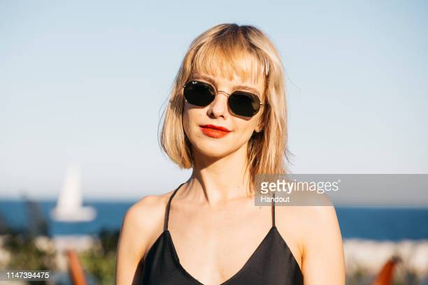 In this handout provided by Ray-Ban, Laura Hayden of Anteros attends Ray-Ban suite at Primavera Sound Festival Motel on June 1, 2019 in Barcelona,...