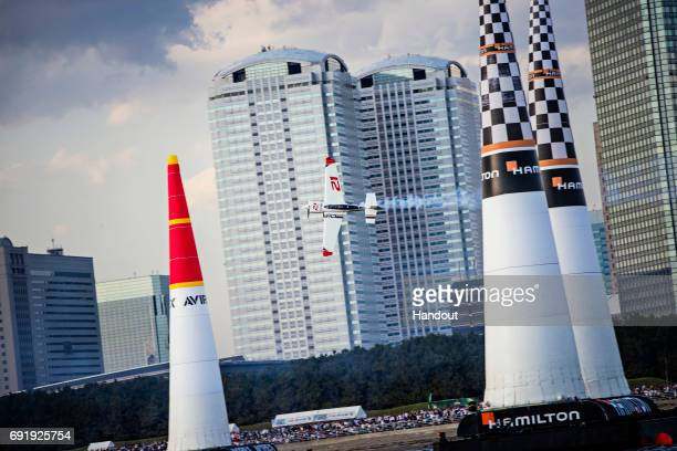 In this handout provided by Red Bull Matthias Dolderer of Germany performs during the qualifying day at the third stage of the Red Bull Air Race...