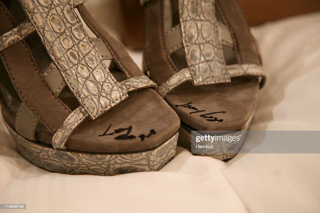 Lady Gaga Shoes Up For Auction : News Photo