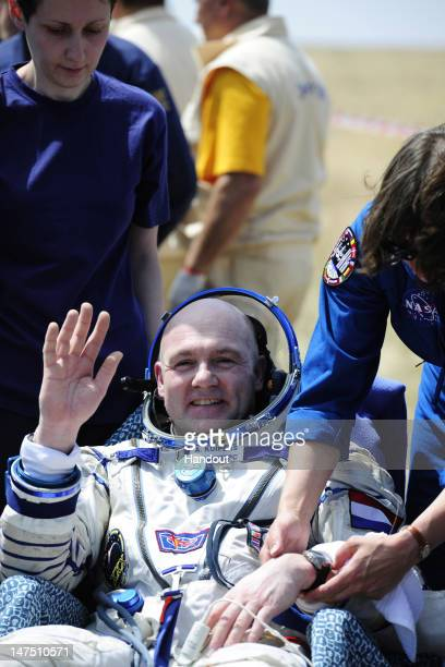 In this handout provided by the European Space Agency Expedition 31 Flight Engineer Andre Kuipers of the European Space Agency and the Netherlands...