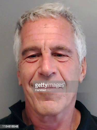 In this handout provided by the Florida Department of Law Enforcement Jeffrey Epstein poses for a sex offender mugshot after being charged with...