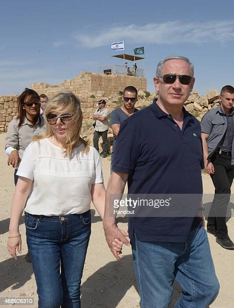 In this handout provided by the Israeli Government Press Office Israel Prime Minister Benjamin Netanyahu and wife Sara Netanyahu take vacation over...