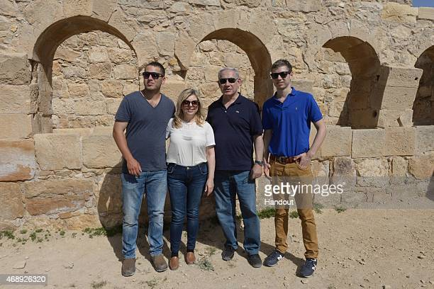 In this handout provided by the Israeli Government Press Office Israel Prime Minister Benjamin Netanyahu and family take vacation over the Passover...