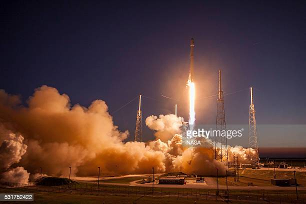 In this handout provided by the National Aeronautics and Space Administration SpaceX's Falcon 9 rocket makes a successful launch with the SES9...