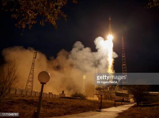 In this handout provided by the National Aeronautics and Space Administration a Soyuz MS15 spacecraft is launched bound for the International Space...