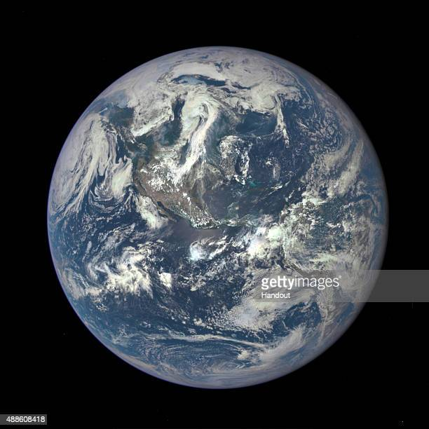 IN SPACE In this handout provided by the National Aeronautics and Space Administration Earth as seen from a distance of one million miles by a NASA...