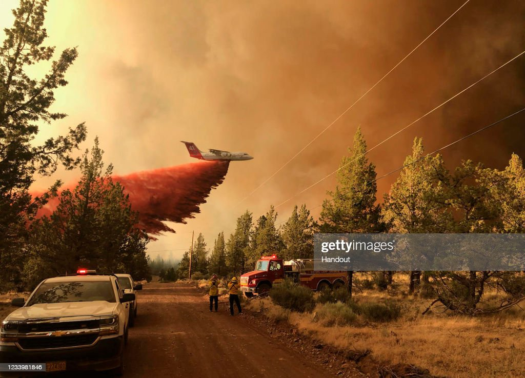 Multiple Wildfires Burn In Oregon : News Photo