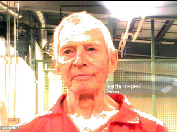In this handout provided by the Orleans Parish Sheriffs Office OPSO Robert Durst poses for a mugshot photo after being arrested and detained March 14...