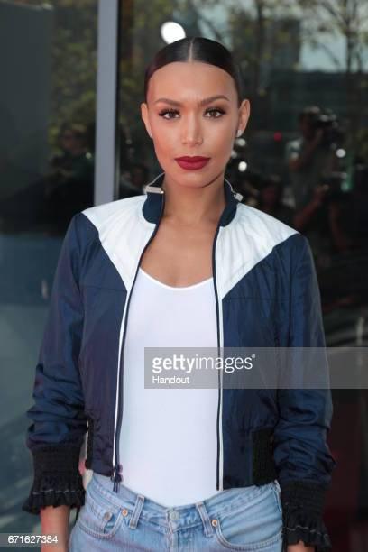 In this handout provided by the Paramount Pictures Ilfenesh Hadera arrives as Paramount Pictures presents the first ever Baywatch SloMo Marathon at...