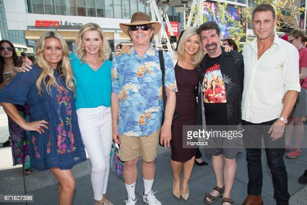 In this handout provided by the Paramount Pictures Kelly Packard Michele Berk Douglas Schwartz Donna D'Errico Michael Berk and Jason Simmons arrive...