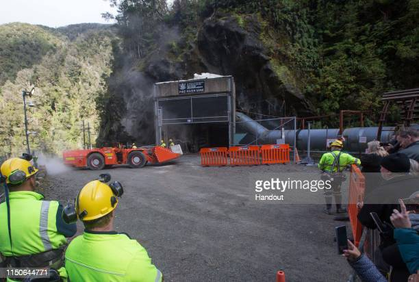 In this handout provided by the Stand With Pike Families Reference Group, the Pike River Mine is entered with heavy equipment on May 21, 2019 in...
