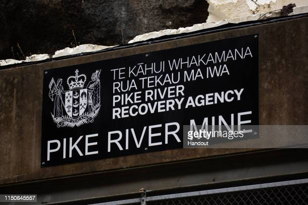 In this handout provided by the Stand With Pike Families Reference Group the Pike River Mine entrance is shown during reopening on May 21 2019 in...