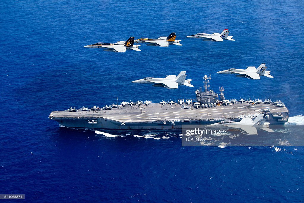 USS Stennis Conducts Operations in Philippine Sea : News Photo