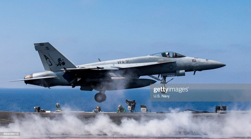 U.S. Navy Conducts Flight Operations in Mediterranean : News Photo