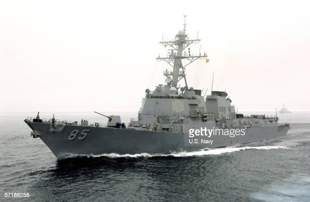 In this handout provided by the US Navy and released on March 26 the guidedmissile destroyer USS McCampbell is seen July 26 2005 in the Pacific Ocean...