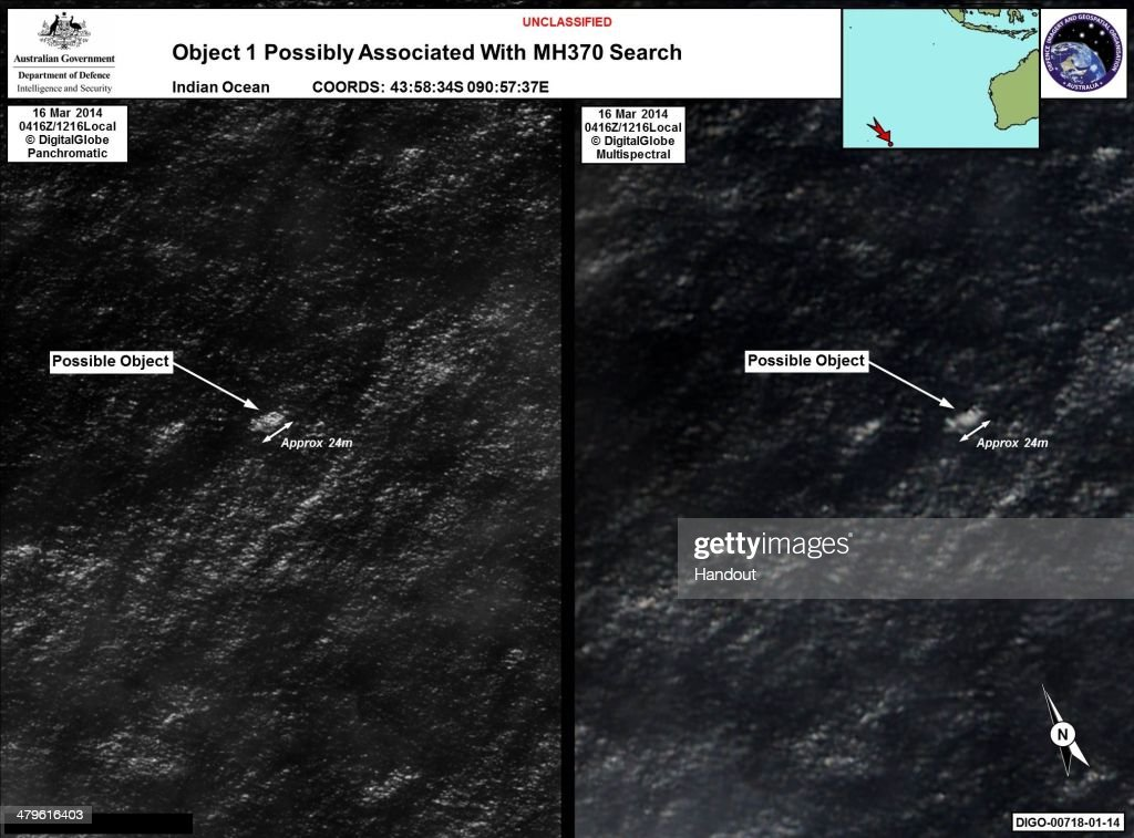 Possible Malaysian Airliner Debris Found In Indian Ocean : Foto jornalística
