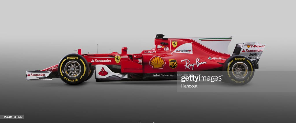 In this handout supplied today by Scuderia Ferrari, the team unveil their new SF16-H Formula One car on February 24, 2016 in Maranello, Italy.