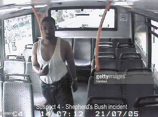 In this handout video grab image released by the Metropolitan police, July 28, 2005 which they believe shows the as yet unidentified man who...
