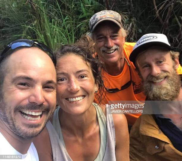 TOPSHOT In this image courtesy of Javier Cantellops and obtained at facebookcom/AmandaEllersMissing/ shows missing hiker Amanda Eller with her...