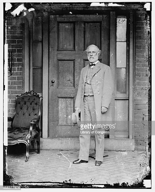 In this image from the US Library of Congress Confederate Gen Robert E Lee stands for a portrait April 16 1865 in Richmond Virginia
