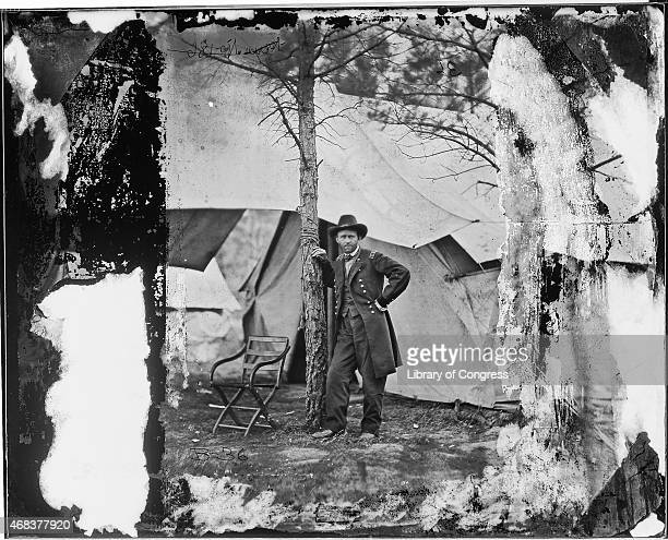 In this image from the US Library of Congress US General Ulysses S Grant stands for a portrait August 1864 in City Point Virginia