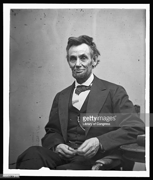 In this image from the US Library of Congress US President Abraham Lincoln sits for a portrait February 5 1865