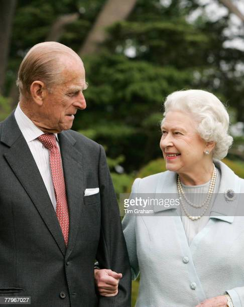 In this image made available November 18 HM The Queen Elizabeth II and Prince Philip The Duke of Edinburgh revisit Broadlands to mark their Diamond...